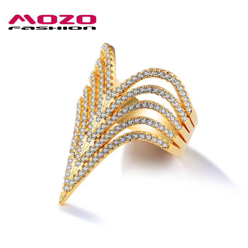 MOZO FASHION New Arrival Female Jewelry V Shape Design Ladies ...