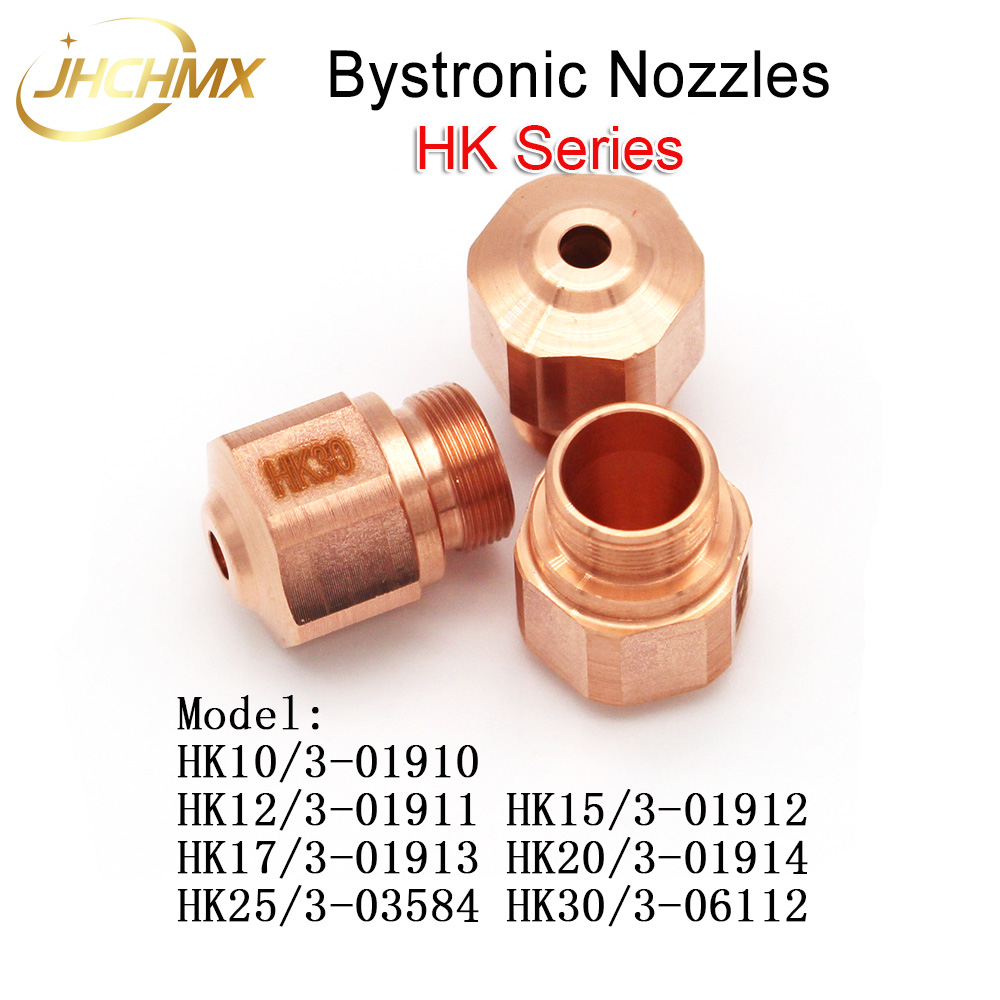 Free Shipping 10pcs Bystronic Laser Nozzles HK Series Nozzles High Pressure For Wholesale Bystronic Laser Cutting