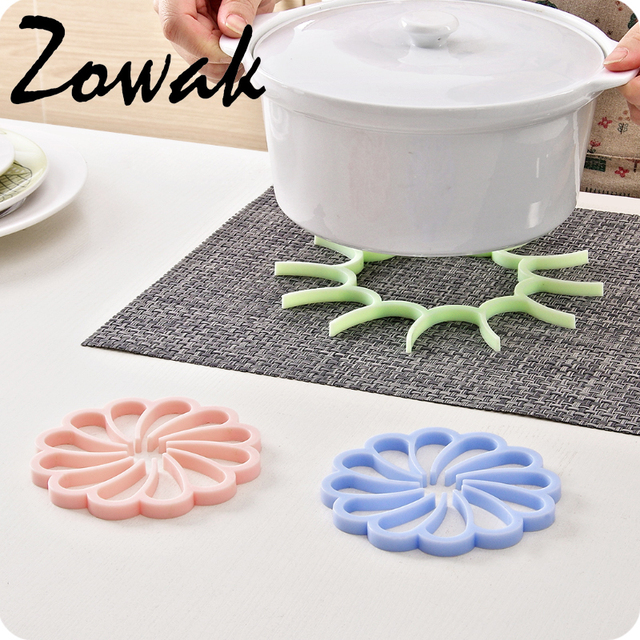Silicone Pot Holder Trivet Mat Hot Pad Heat Resistant Coaster Cup  Insulation Tableware Pad Pot Kitchen
