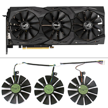 87mm T129215SH T129215SL 12V 0.30A Fan For ASUS ROG-STRIX-RTX 2070-O8G-GAMING RTX2060 O6G Graphic Card Cooling
