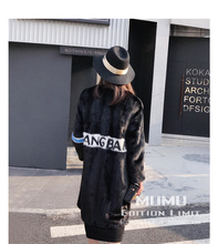 *European star particular Noble New Natural Full Pelt Mink Fur Winter Coat Women's Sleeveless Fashion All-match Knitted Mink Coat!