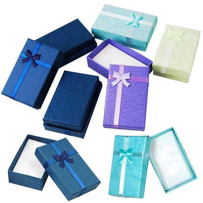 12 peças sortidas joias presentes caixas para exibição de jóias