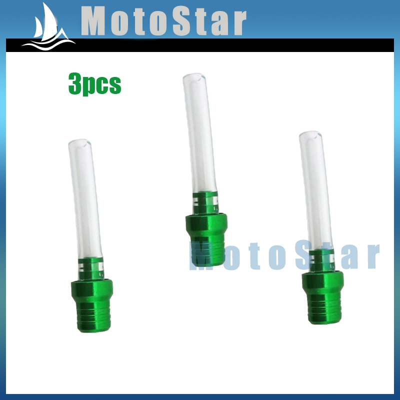 US $6 62 |3x Motorcycle Green Gas Fuel Tank Cover Cap Vent Valve Breather  Hose Tube For Pit Dirt Motor Bike Thumpstar YCF XR CRF SSR KLX-in Fuel Tank