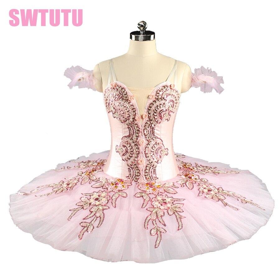Professionnel Ballet Tutu Rose Femmes Casse-Noisette Fée Poupée Costumes de Scène de Ballet Sleeping Beauty Pancake Tutu BT9153