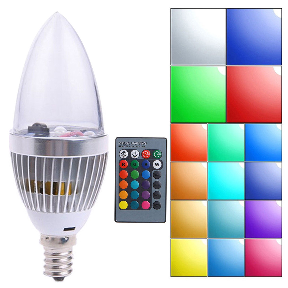 Lights & Lighting Strong-Willed Candle Lamp Led Dimmable Colors Changing Remote Control Rgb Multi-colored Energy Saving Home Decoration Complete Range Of Articles