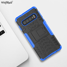 For Samsung Galaxy S10 Plus Case TPU & PC Holder Armor Phone Case For Samsung Galaxy S10 Plus Cover For Samsung S10 Plus G975 чехол для samsung galaxy s10 sm g975 silicone cover белый