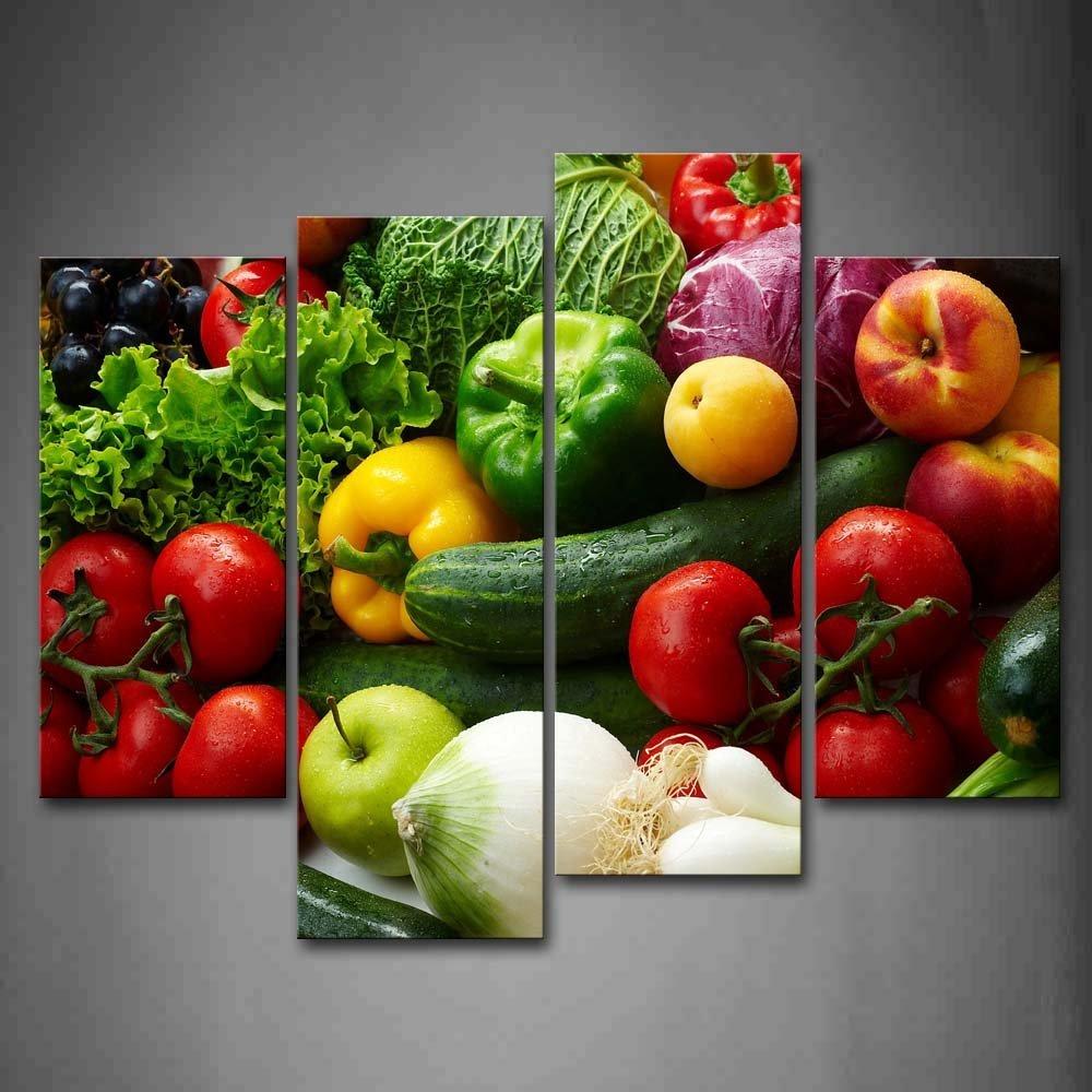 color divers lgumes mur art peinture photos imprimer sur toile alimentaire la photo pour la maison - Colorant Alimentaire Prix