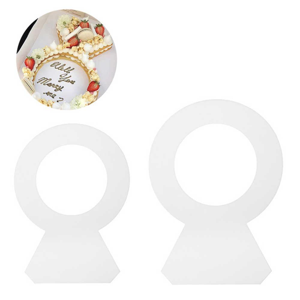 1 ud. Molde de pastel con forma de anillo de diamante PET para fondant tortas galletas moldes de decoración de chocolate 8/10/12/14 pulgadas accesorios de cocina para hornear
