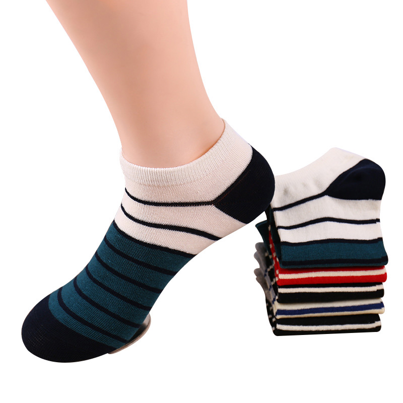5 Pairs Men Socks Fashion Neatly Striped Cotton Ankle Socks Summer Durable Comfortable Best Quality Male Sock Meias calcetines