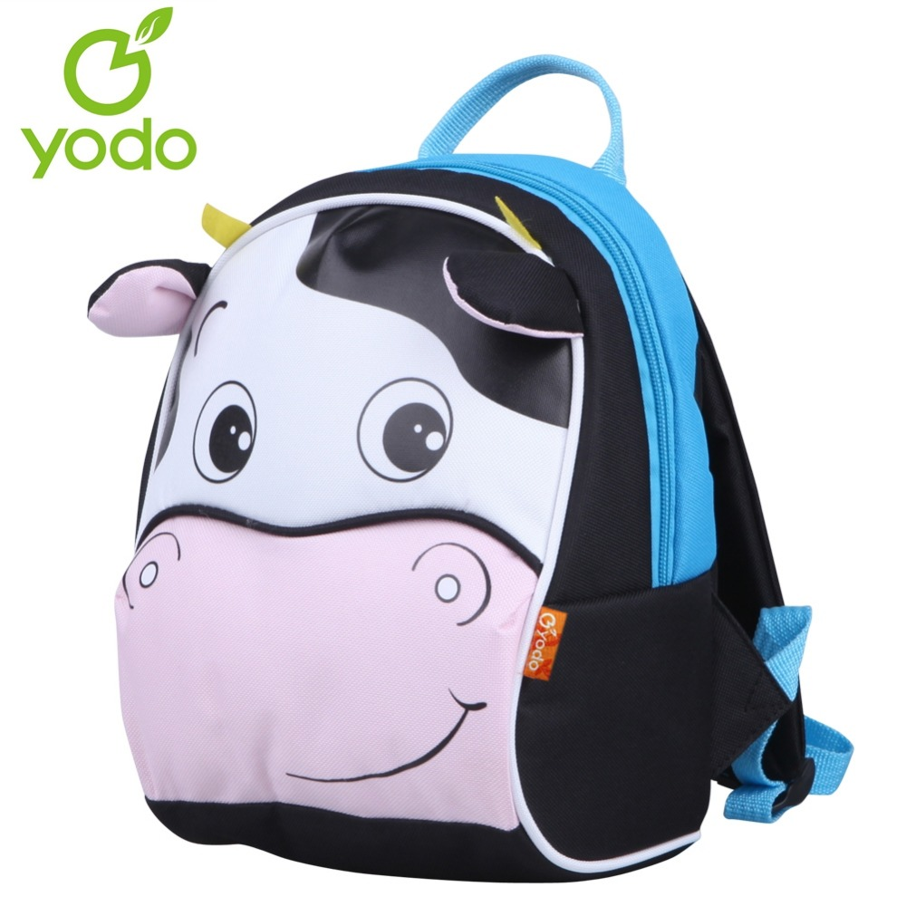 Yodo Super Cute 3D Cow Children Backpack Anti-lost Kids Babys <font><b>Bags</b></font> Insulated Thermal Cooler Toddler School <font><b>bags</b></font> for girls boys