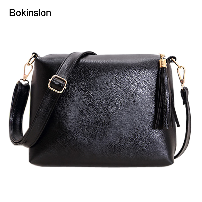Bokinslon Shoulder Bags For Women Fashion PU Leather Woman Crossbody Bag Solid Color Small Fresh Women Brand Popular Bags New