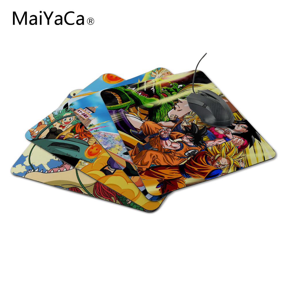 MaiYaCa Design Japanese Anime Dragonball LOL Luxuring Printing Gaming Gear Anti-Slip Durable Rubber Mousepad for Optical Mouse