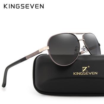 438ff875b9 KINGSEVEN Brand Men s Aluminum Magnesium Sun Glasses HD Polarized UV400 Sun  Glasses oculos Male Eyewear Sunglasses For Men N725