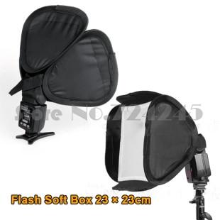 23cmx23cm Universal portable Camera flash softbox diffuser f 580EX 430EX 600EX for Canon Nikon Pentax Yongnuo Flash
