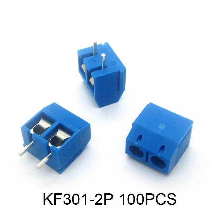 6 Pin Terminal Block Škoda 1j0973713: 100pcs KF301 2P 2 Pin Plug In Screw Terminal Block