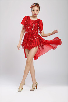 The new dult/Children Latin Dance Dress For Tassel style Girls/Lady Cha Cha/Rumba/Samba/Tango/Ballroom square dance Skirt