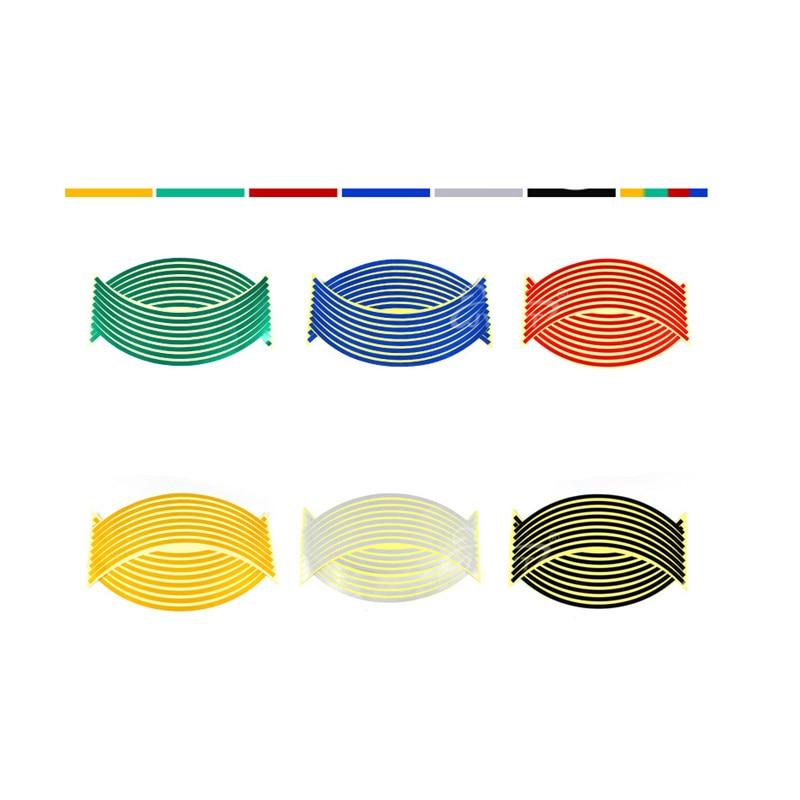 New 17/18 Inch New Flame Reflective Rim Tape Wheel Stripes Stickers Vinyl Decal Car For yamaha honda suzuki kawasaki ktm 200/300