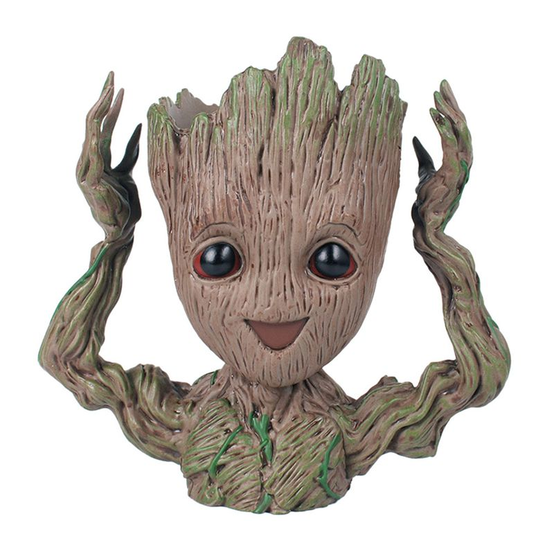 Baby Groot Flower Pot Pen Pot Holder Plants Flower Pot Cute Action Figures Toys For Kids Gift Desktop Decoration