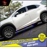 NEW ACCESSORIES FOR LEXUS NX200 NX300h NX200t stainless steel SIDE DOOR BODY GARNISH MOULDING COVER trim PROTECTION CAR STYLING
