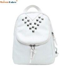 Maison Фабр Жасмин путешествий женские модные заклепки дорожная сумка школьная сумка рюкзак Sep30