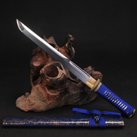 TANTO SWORDS Short Japanese Samurai Sword Fully Handmade 9260 Spring steel Full tang blade Functional Real Katana
