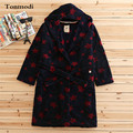 Women sleepwear robe coral fleece bathrobes packing winter long robes
