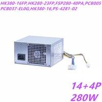 New PSU For Lenovo ATX H530 D5050 Power Supply HK380 16FP HK280 23FP FSP280 40PA PCB005 PCB037 EL0G HK380 16 PS 4281 02 54Y8902