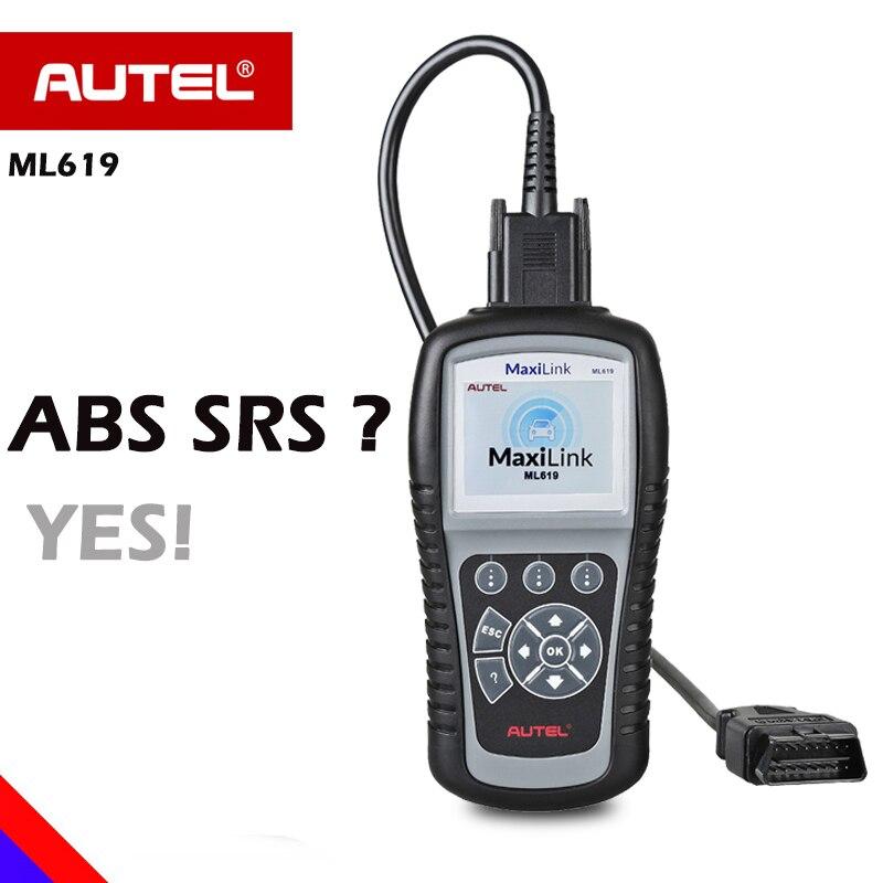 AUTEL ML619 OBD сканер Automotivo ABS SRS автомобиля диагностический код читателя подушка безопасности сканер AL619 OBD 2 obd2 сканер OBD II EOBD Авто