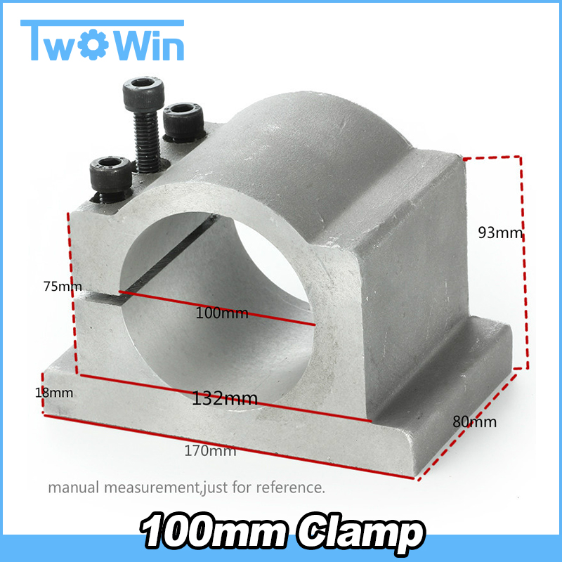 100mm CNC Spindle Motor Clamp Mount Bracket with 3pcs Screws for CNC Router Engraving Milling Spindle Motor