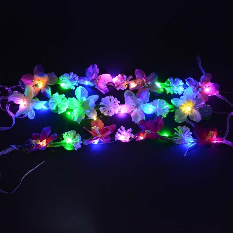 Vrouwen Meisje Sexy LED Knipperende Bloem Hoofdbanden Licht Bloemen - Feestversiering en feestartikelen - Foto 3