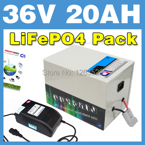 36V 20AH LiFePO4 Battery Rear rack BOX Lithium Battery Electric Scooter Pack E bike Free Shipping
