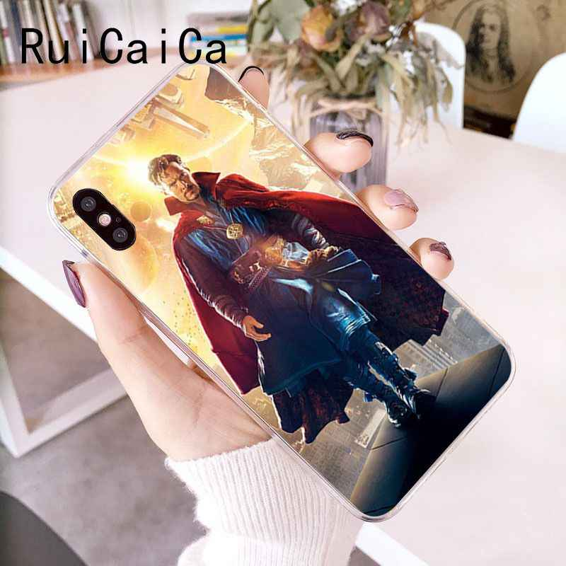 Ruicaica Dr Marvel Comics Dokter Aneh Novelty Fundas Phone Case untuk iPhone 8 7 6 6S Plus X XS MAX 5 5S SE XR 10 Cover Capa