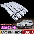 ためトヨタランドクルーザープラド 120 2003-2009 クロームハンドルカバ J120 LC120 2005 2007 2008 車カーアクセサリーカースタイリング