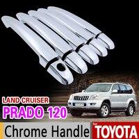 For Toyota Land Cruiser Prado 120 2003 2009 Chrome Handle Cover Trim Set J120 LC120 2005