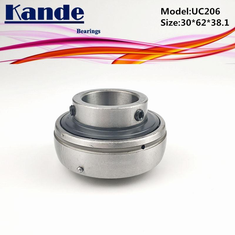 Kande Bearings 1pc UC 206 ID: 30mm  UC206-18 ID: 1-1/8