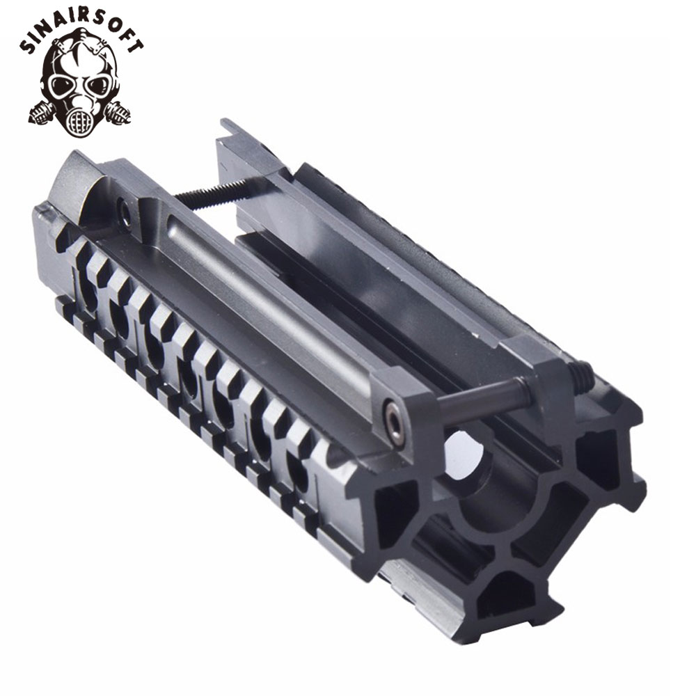 Hot Tactical Aluminum Alloy H&K MP5 Tri-Rail Picatinny Handguard System Adapter Mount Scope For AEG Airsoft Hunting Accessories