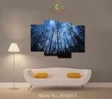 3-4-5 Pieces Star Sky Trees Modern Wall Art Pictures HD Printed Canvas Painting Modular Paints for Living Room Decor