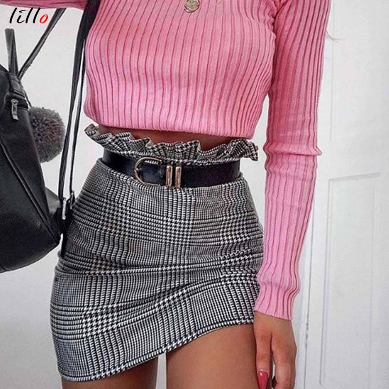 Skirts Short Skirt Pan Belt Included