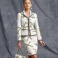 Arlene sain mulheres Tweed Francês aristocrático van restaurar antigas formas de metal corrente decoração dois ternos frete grátis