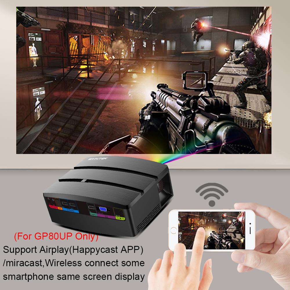BYINTEK SKY GP80/GP80UP HD LED Mini USB HDMI Portable Projector for Home  Theater 1080P Cinema (Optional Android 6 0 Version) - dashisland