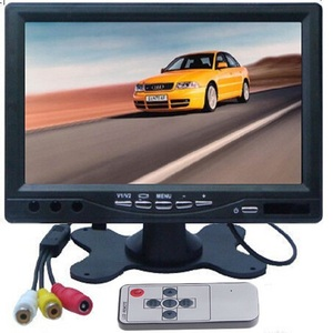 "HD 7"" inch Color TFT LCD  Car Monitor Rear View CCTV Monitor Display with 2 Channels Video Input for DVD VCD Reversing Camera"