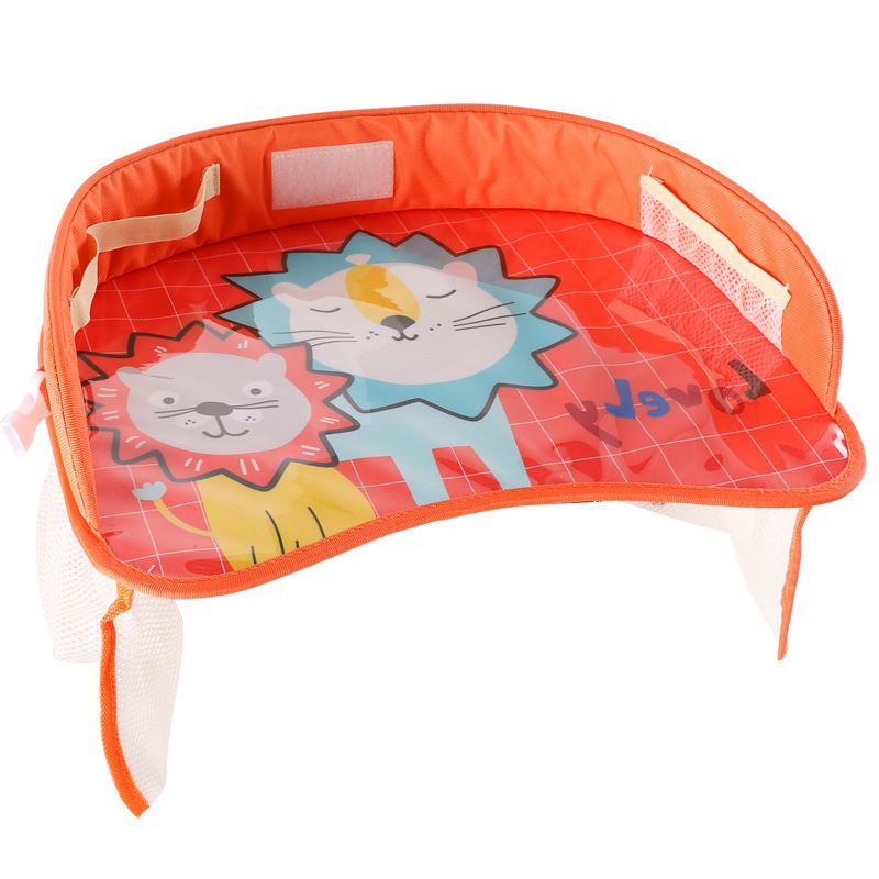 Car Seat Travel Tray Safety Seat Play Table Organizer Storage Snacks Toys Cup Holder Waterproof For Baby Children Kids Stroller