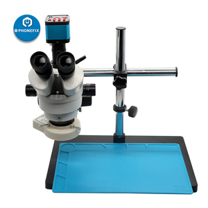 Image 4 - 3.5 90X Continuous Zoom Simul Focal Trinocular Stereo Microscope 21MP Camera adapter Phone Motherboard soldering repair tool