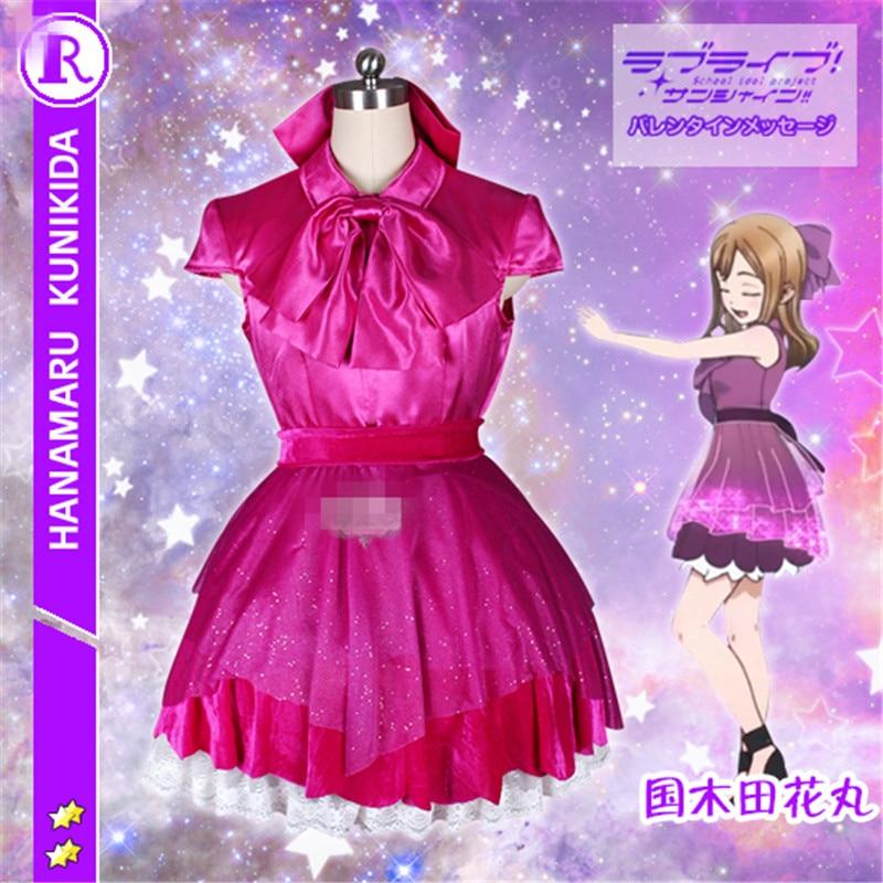 Здесь продается  New Anime Love Live Sunshine Aqours Kunikida Hanamaru Night Party Dress Cosplay Costume O  Одежда и аксессуары