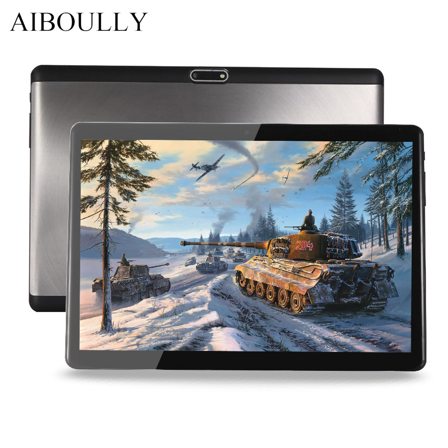AIBOULLY 2018 Android 7 Tablet 10.1 inch 3G Phone Call Tablets WiFi 1920*1200 Octa Core pc Tablet A-GPS 4G+32G with Keyboard 8''