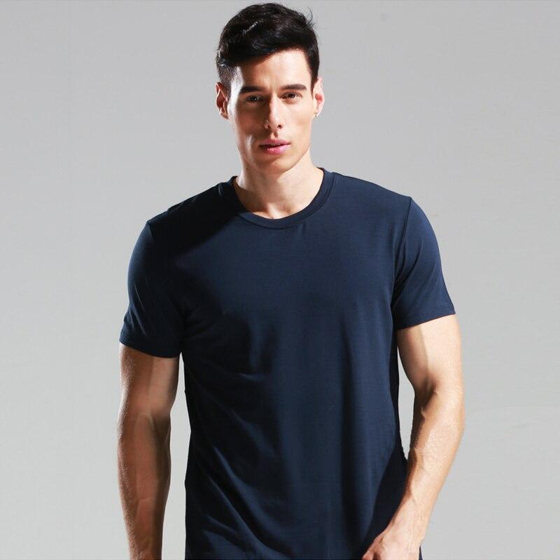 2019 zomer Hot Koop Katoenen t-shirt heren casual korte mouw O-hals - Herenkleding - Foto 3