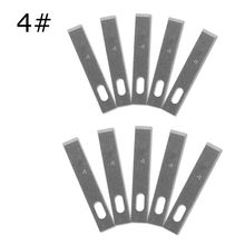 Free Shipping 10 Pcs One Lot 4# scalpel Blade Surgical Knives Blades Replacement Paper Cutter