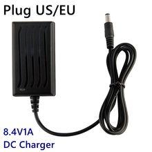 8.4V 1A Charger 7.4V 7.2V Li-ion Battery Headlamp T6/P7 LED Bicycle Headlight