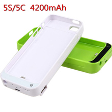 New Brand 4200 mAh External Battery Backup Charger Case Pack Power Bank for iPhone 5 5S 5C free shipping with wholesale price