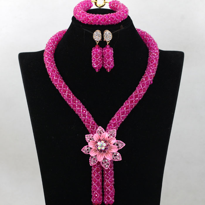 Gorgeous Coral Nigerian African Beads Jewelry Set Dubai Gold ...